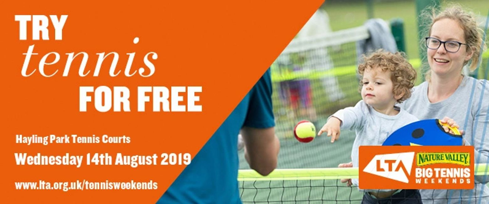 Nature Valley Big Tennis Weekends Hayling Park Tennis Courts Wednesday 14th august 12 - 4pm