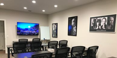 Hourly/Daily Leander Meeting Space for 1-25 with Whiteboards, HD monitor, High-speed Internet.