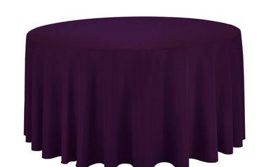eggplant round tablecloth