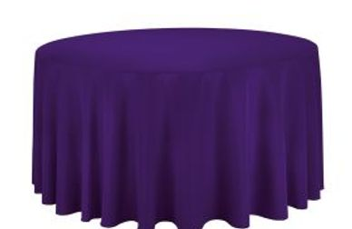 purple round tablecloth