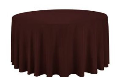 chocolate brown rond tablecloth