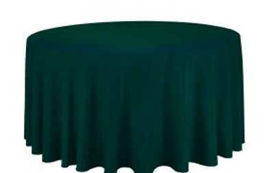Hunter green round tablecloth