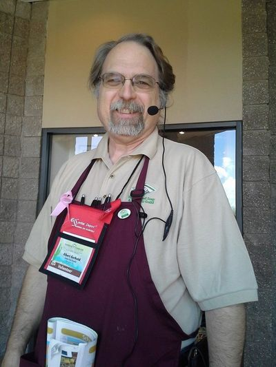 This is me at one of the HSCG conferences that I regularly volunteer at.