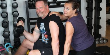 Heidi and Les love their Sat personal training and variety that Colleen, Personal Trainer provides.