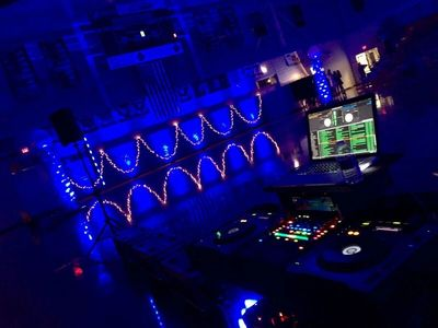 Uplighting at High School Dance