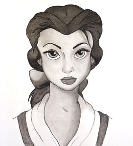 Lysa Karell Artist Portraitist illustrator drawing portrait book illustration Beauty and the beast