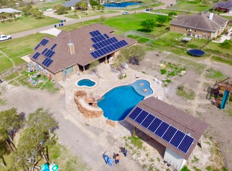 Drone image of a solar installation