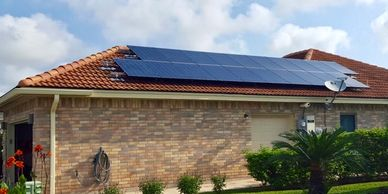 Solar installation on tile roof