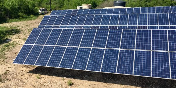 Solar installation on ground