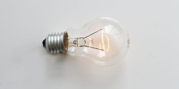 A lightbulb lighting up
