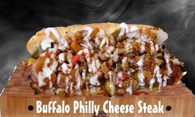 "Our 2 time award winning ""Buffalo  Chicken Cheesesteak"""