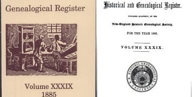 The New England Historical and Geneological Register - 1885