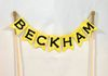 Fabric Embroidered Cake Topper Name Banner