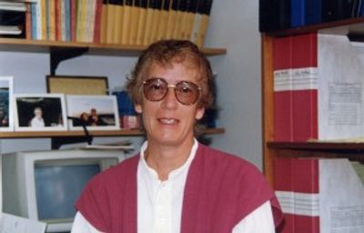 The author, age 51, 1995, in the author's office.  Photo by Victoria Finnerty