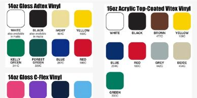 standard banner colour for cut vinyl or prints.