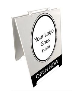 custom plywood sandwich boards can be printed or cut vinyl or even custom sandwich board shapes