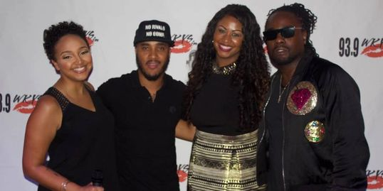 Radio Host Danni Star, DJ Quick SIlva and rapper Wale presented Kelsey Nicole Nelson her award.