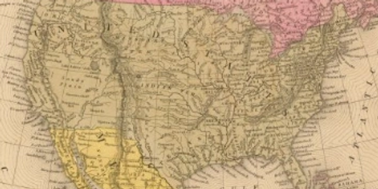 Mitchell Map of North America (1847)