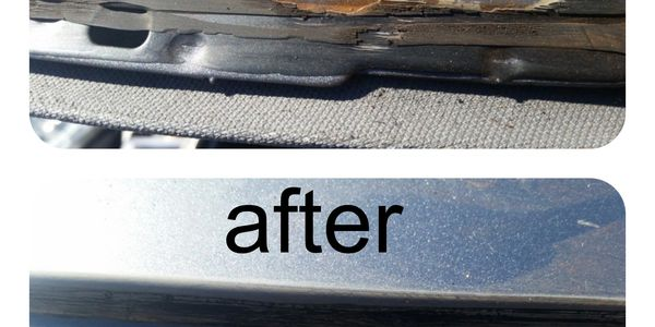 before and after rust repair