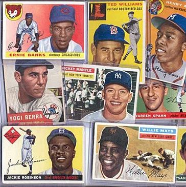 Old baseball cards, Mickey Mantle cards, 1952 Topps, Ted Williams, Rookie cards