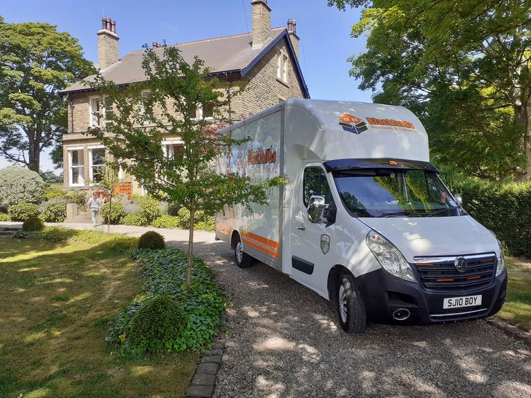 Blackfords Removals van at a property