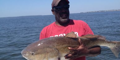 Jekyll Island Fishing Charters for Bull Reds.