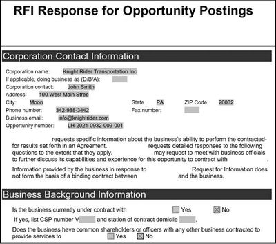 FedEx RFI response (aka FedEx Business Plan) for buildagroundbiz CR-090 form