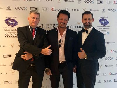 Hollywood Movie Director Bobby Emprechtinger (Centre), R. R. Hijazi CEO of EU SFF (Right) & Chili