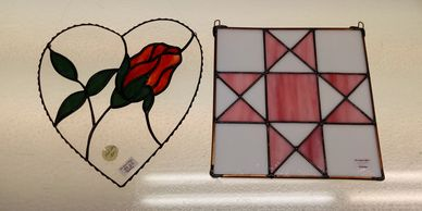 Creatively Glass & more Beginner 3 glass foiling refresher stained glass class sample projects