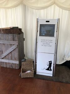 free standing photo booth in somerset for hire   wedding photo booth hire  photo booths