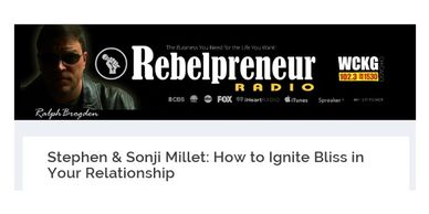 Relationship Experts, Stephen & Sonji Millet, talk about How to Ignite Bliss in Your Relationship