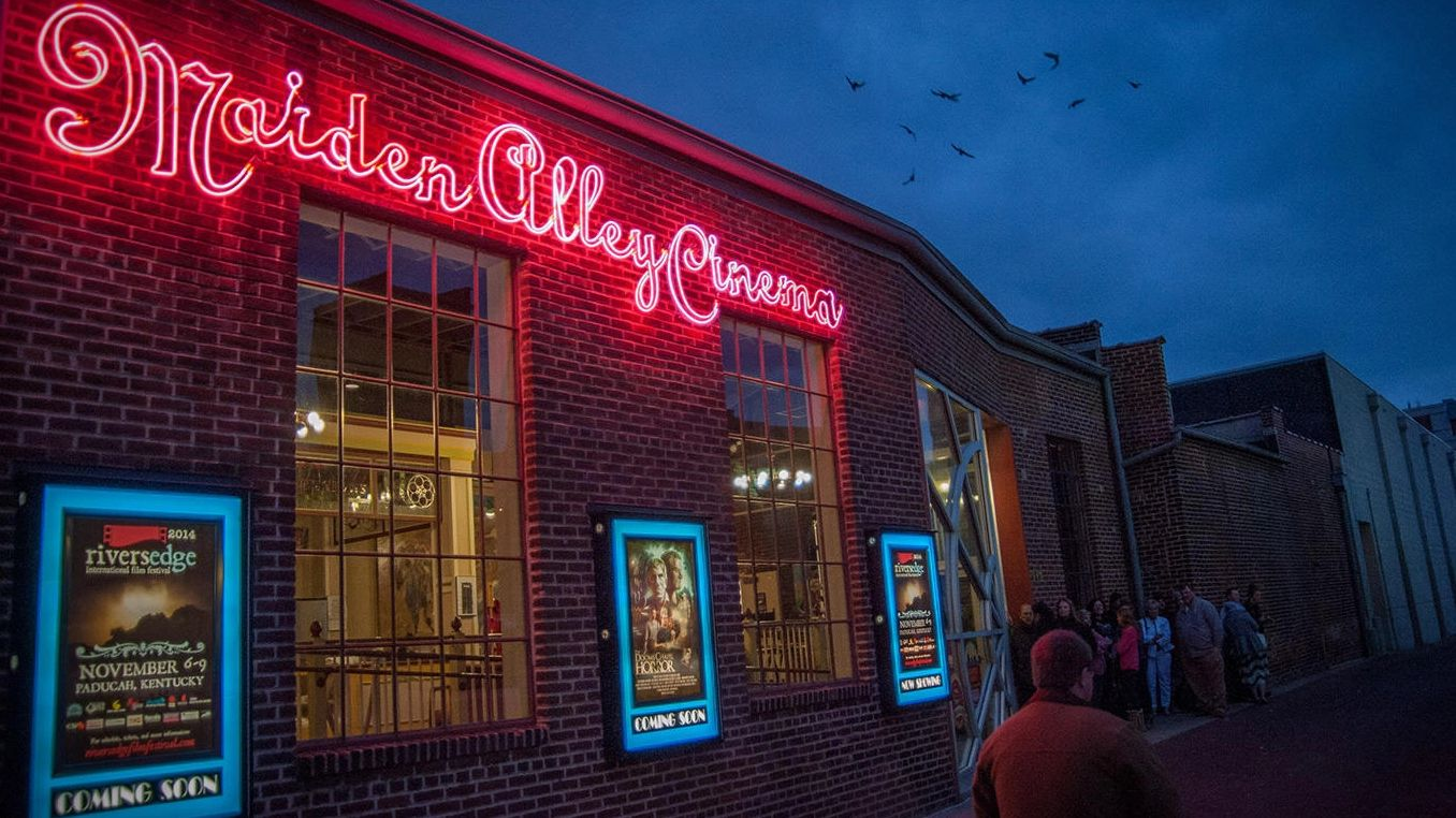Maiden Alley Cinema, Paducah, Kentucky.  Host theater for Cinema Systers Film Festival, The only all