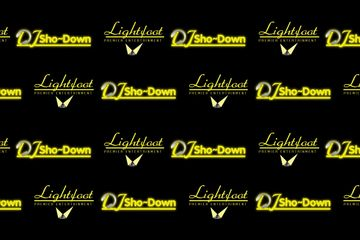 Lightfoot Premier Entertainment DJ's and Event Planning, logo step n repeat custom