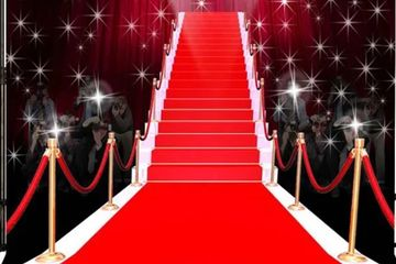 Red Carpet Deluxe entrance with stanchion pole and Backdrop Rental Miami, DJ Lightfoot Premier Enter