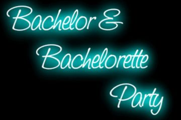 Bachelor and Bachelorette Party sign ideas, DJ Lightfoot Premier Entertainment
