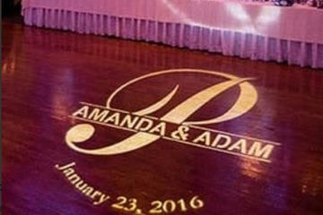 Custom Monogram Gobo for Weddings and events by Lightfoot Premier Entertainment DJ's