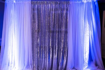 Custom Drape and Lighting design rental with Lightfoot Premier Entertainment DJ's and Event Planning