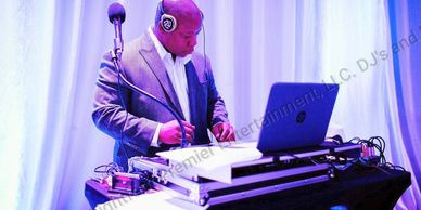 DJ Lightfoot djing at Boca Raton Wedding Reception for bride and groom