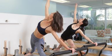 Semi-private pilates private sessions. Build your strength while working with a partner.