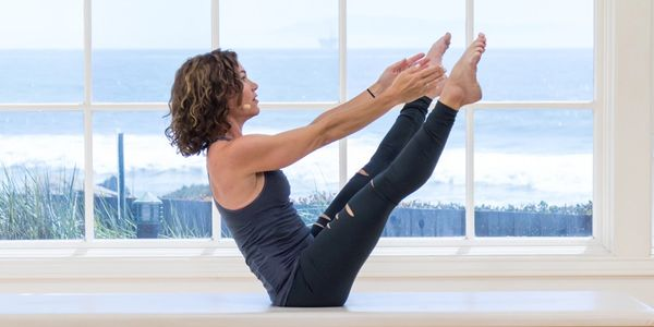 Maria Leone for Pilates Anytime in Malibu Beach California
