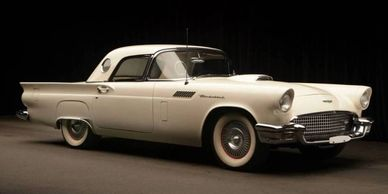 picturecar moviecar rental 1957 ford tbird thunderbird film commercial fifties picture car movie tv