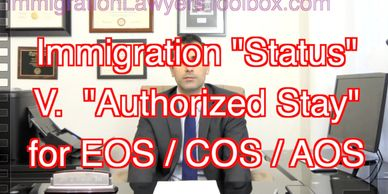 "Extension, Change of, or Adjustment of Status if in a ""Period of Authorized Stay I-94 expired)"