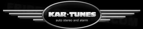 Kartunes auto stereo and alarm