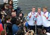 Olympic Rowers from Coleraine with their Olympic medals on their homecoming to north coast