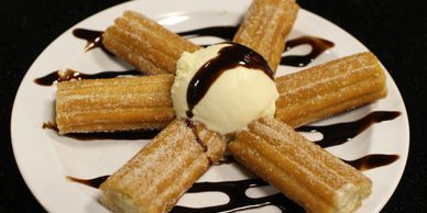 Churros con ice cream