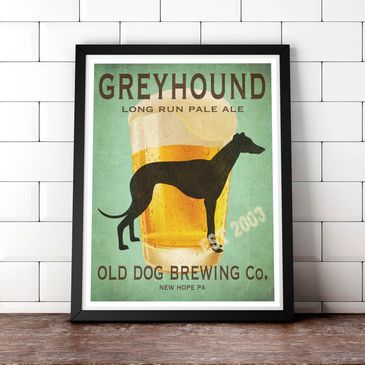 Greyhound beer sign that is fully customizable.