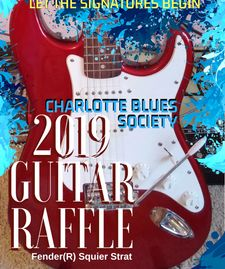 Candy Apple Red Fender Squier Strat 2019 Autographed fundraising raffle Guitar