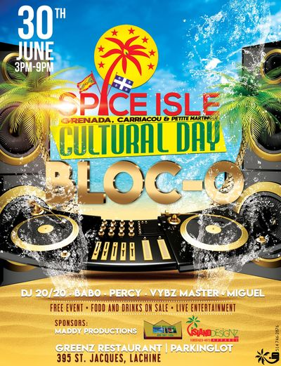 JOIN US FOR THE SPICE ISLAND CULTURAL DAY BLOCK-O