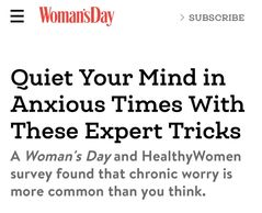 Gin Love Thompson, PhD expert advice featured on Woman's Day