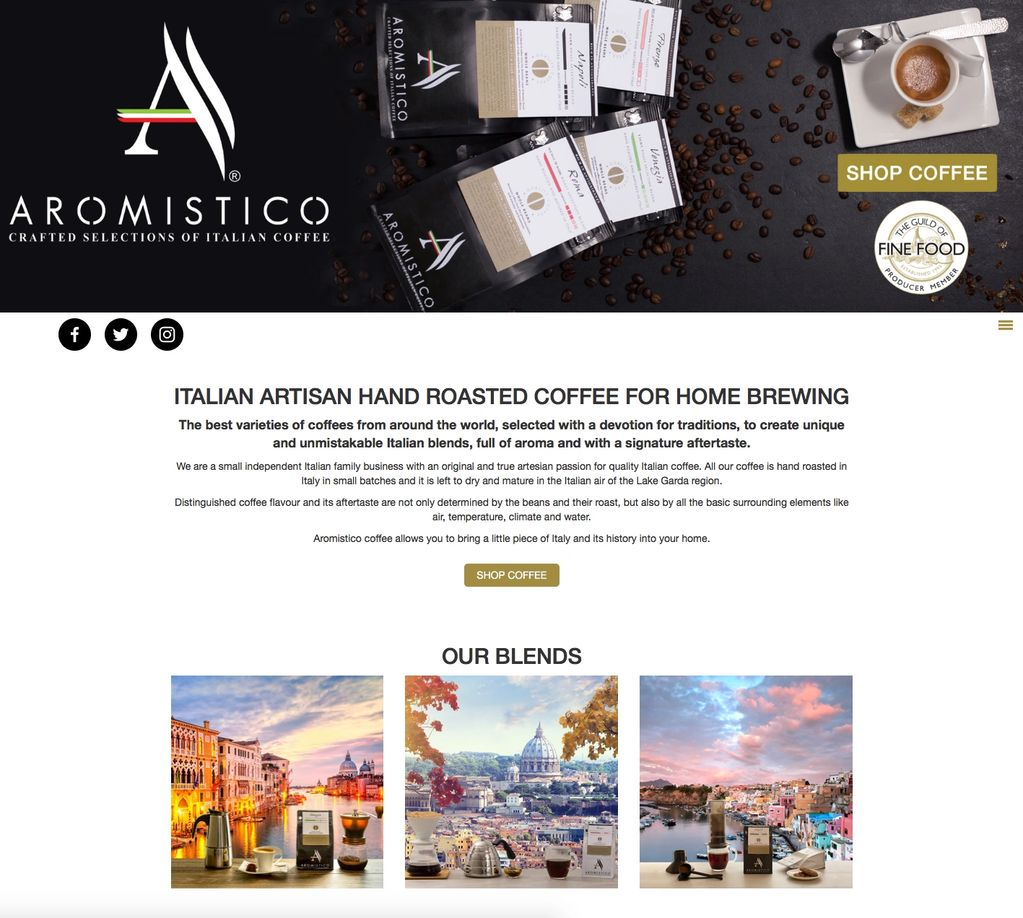 Aromistico Coffee unique and unmistakable Italian blends, full of aroma and with a signature afterta